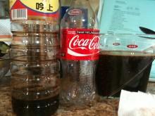 Empty Coke & Soy Sauce